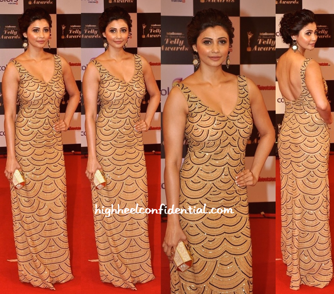 Daisy Shah In Zara Umrigar At Indian Telly Awards 2014