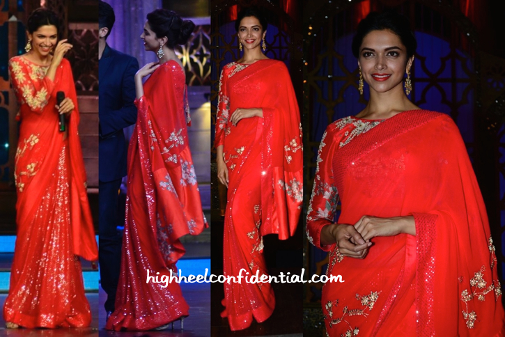Deepika Padukone In Nikasha On Cine Stars Ki Khoj Sets For Finding Fanny Promotions-1