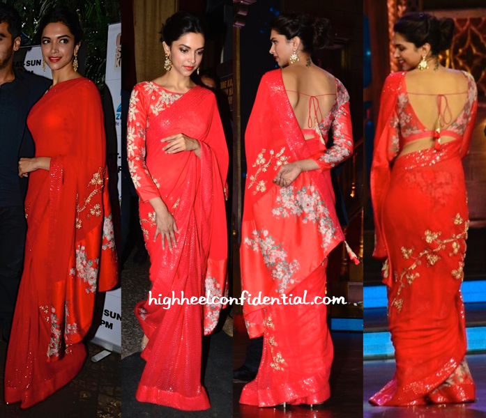 Deepika Padukone In Nikasha On Cine Stars Ki Khoj Sets For Finding Fanny Promotions-2