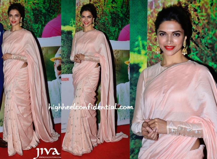 Deepika Padukone In Payal Singhal At Finding Fanny Screening And On JDJ Sets-1