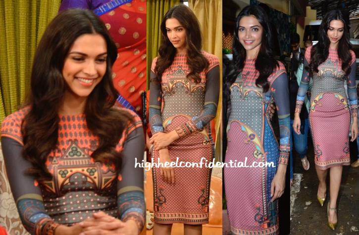 Deepika Padukone Wears Pankaj And Nidhi To 'Finding Fanny' Promotions-2