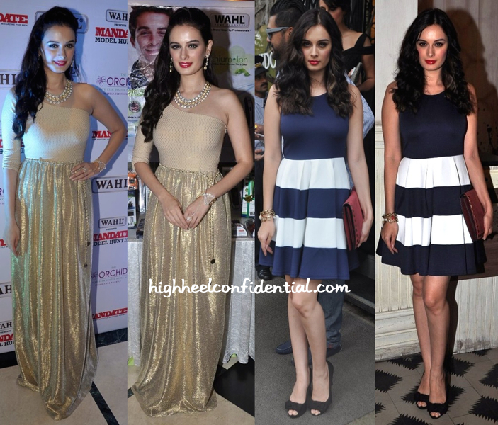 Evelyn Sharma At Mandate Model Hunt 2014 And At Bespoke Vintage Launch