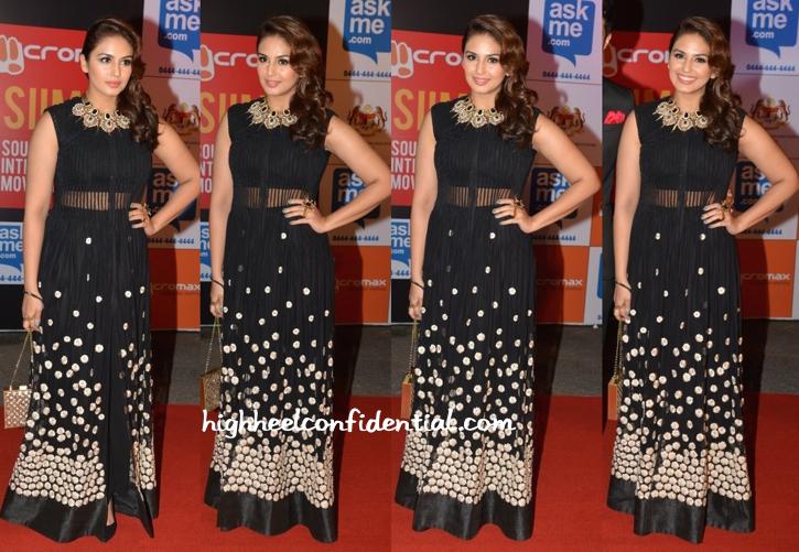 Huma Qureshi In Ridhi Mehra At SIIMA Awards 2014-1