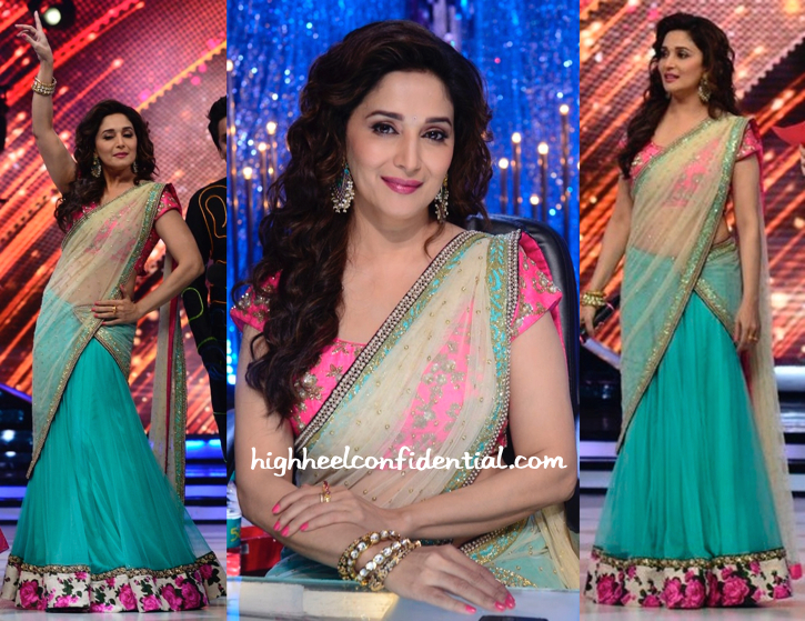 Madhuri Dixit In Peppermint Diva On Jhalak Dikhhla Jaa Sets-1