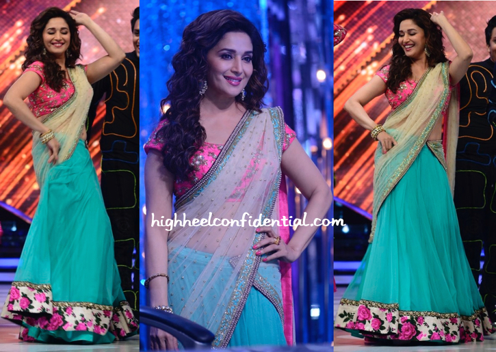 Madhuri Dixit In Peppermint Diva On Jhalak Dikhhla Jaa Sets-2