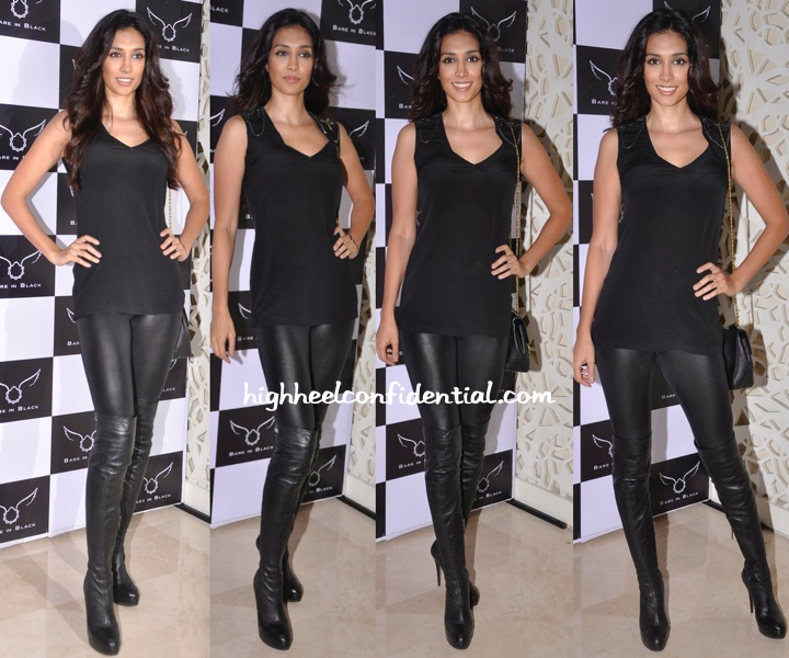 Preeti Desai Wears Bare In Black To The Label's Launch