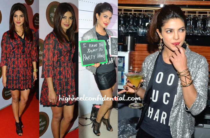 Priyanka Chopra In Alice + Olvia, Alexander Wang And Zara At Opening Of Mugshot Lounge-2