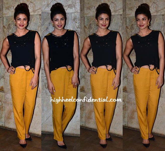 Priyanka Chopra In The Source And Zara At 'Mary Kom' Screening-2