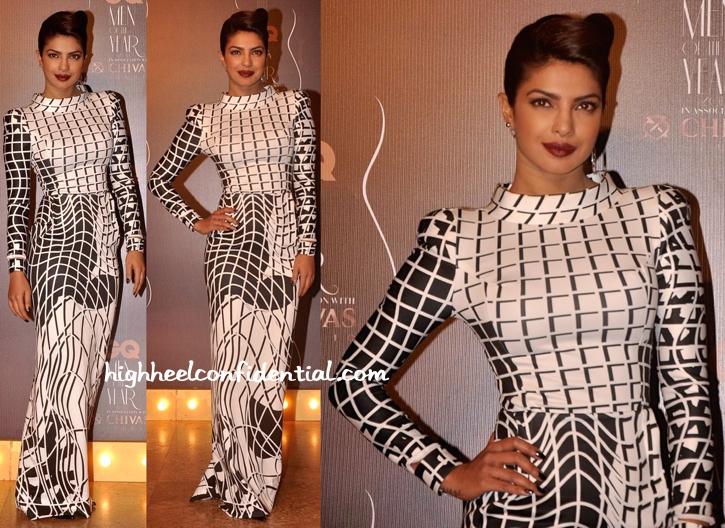 Priyanka Chopra In Toni Maticevski And Amrapali At GQ Awards 2014-2