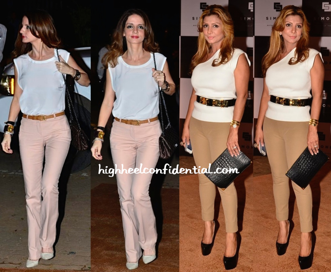 Ramona Narang And Sussanne Khan At Simone Store Launch-2