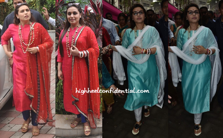 Rani Mukherjee Photographed At Ganesh Chaturthi Celebrations In Mumbai