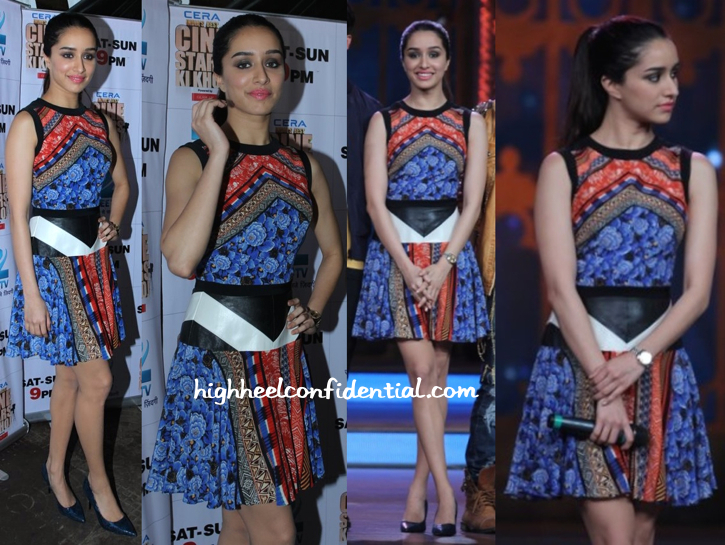 Shraddha Kapoor In Atsu On Cinestars Ki Khoj Sets For Haider Promotions-1