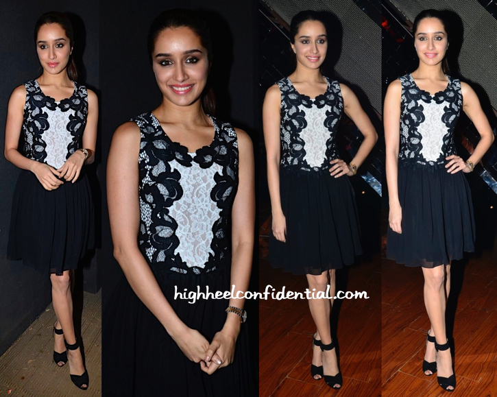 Shraddha Kapoor In Dvf On India's Raw Star Sets For Haider Promotions