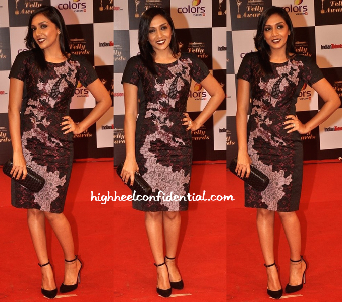 Shveta Salve In Antonio Marras At Indian Telly Awards 2014