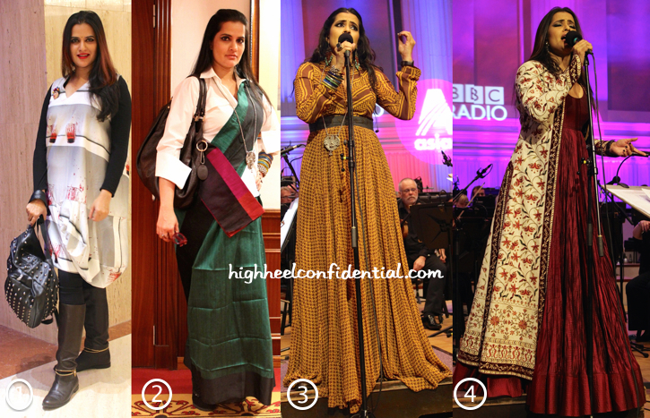 Sona Mohapatra In Kallol Datta, Payal Khandwala, Rohit Bal, Anita Dongre And Eina Ahluwalia For BBC Philharmonic-1