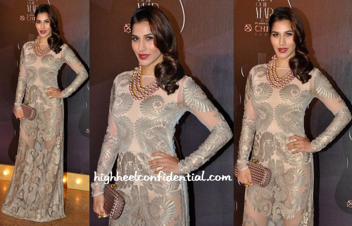 Sophie Choudry In Pankaj And Nidhi And Valliyan At GQ Awards 2014-1
