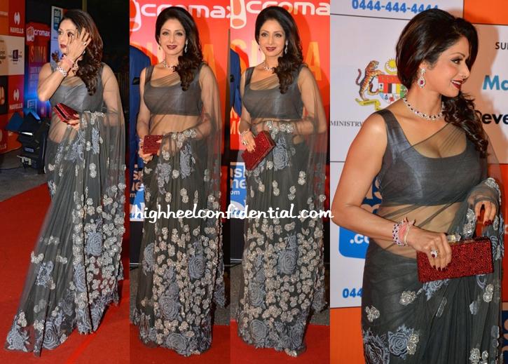 Sridevi At In Manish Malhotra SIIMA Awards 2014-1