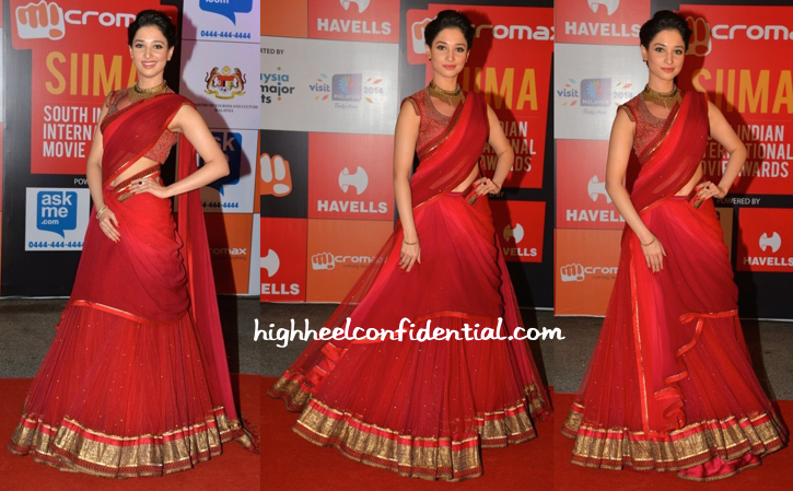 Tamannaah in Tarun Tahiliani At SIIMA Awards 2014-1
