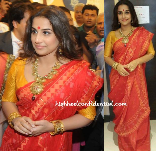 Vidya Balan In Vaishali S At PC Jewelers Launch In Kolkata-1