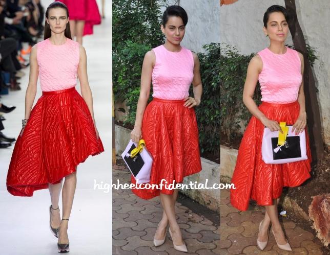 kangana-ranaut-dior-olive-pink-red-dress
