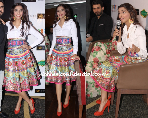 sonam-kapoor-manish-arora-indian-khoobusurat-promotions-delhi-1