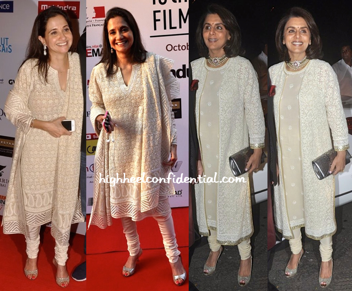 Anupama Chopra At Mumbai Film Festival 2014 And Neetu Singh Kapoor At Ekta Kapoor's Diwali Bash