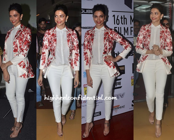 Deepika Padukone In Varun Bahl At Mumbai Film Festival 2014-1