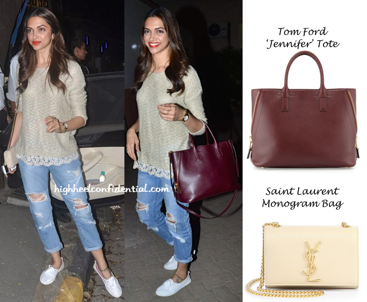 Deepika Padukone Totes Tom Ford And Saint Laurent Wearing Forever 21