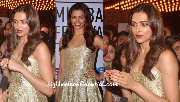 Deepika Padukone Wears Alex Perry To Mumbai Film Festival 2015-2