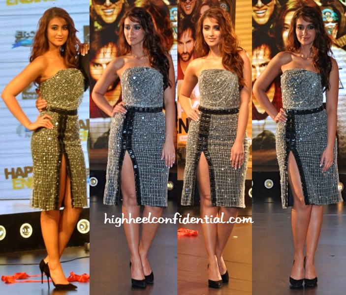 Ileana D'Cruz In Giorgio Armani And Stuart Weitzman At 'Happy Ending' Music Launch-1