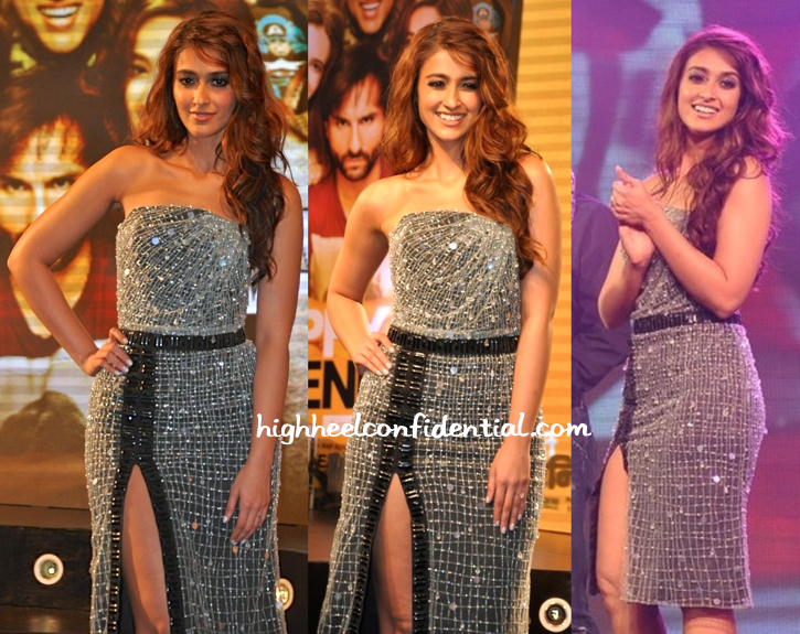Ileana D'Cruz In Giorgio Armani And Stuart Weitzman At 'Happy Ending' Music Launch-2