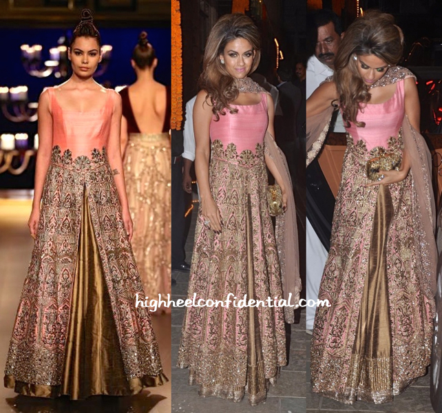 Natasha Poonawala In Manish Malhotra At Bachchans' Diwali Bash
