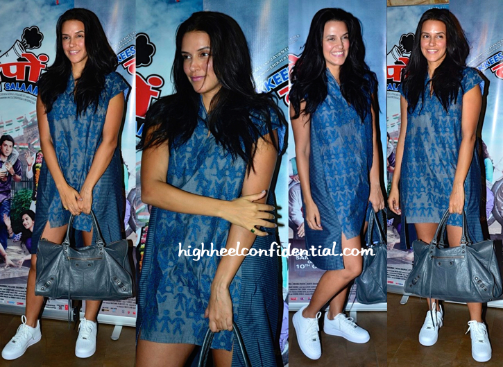 Neha Dhupia In Ilk Vy Shikha And Vinita At Ekkees Toppon Ki Salaami Screening