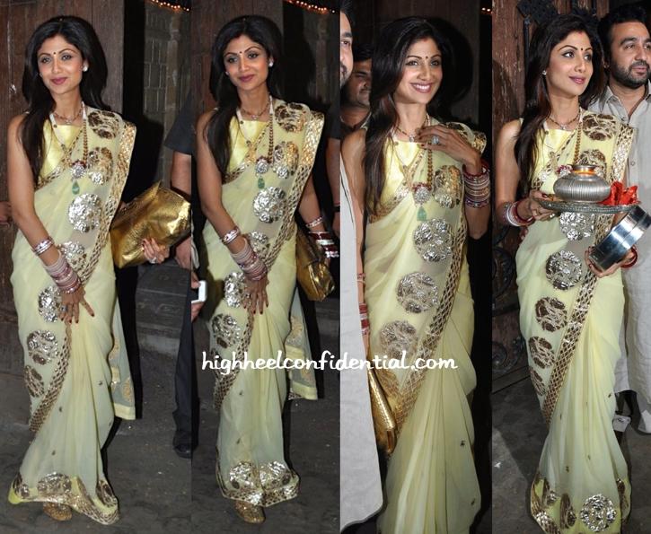Shilpa Shetty At Karva Chauth Celebrations