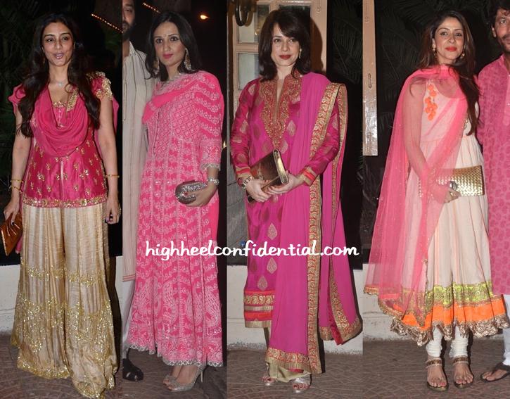 Tabu, Anu Dewan, Neelam Kothari And Bhavna Pandey At Ekta Kapoor's Diwali Bash