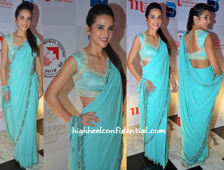 Tara Sharma In Maheka Mirpuri At Designer's Show For 'Move For Cancer Awareness'