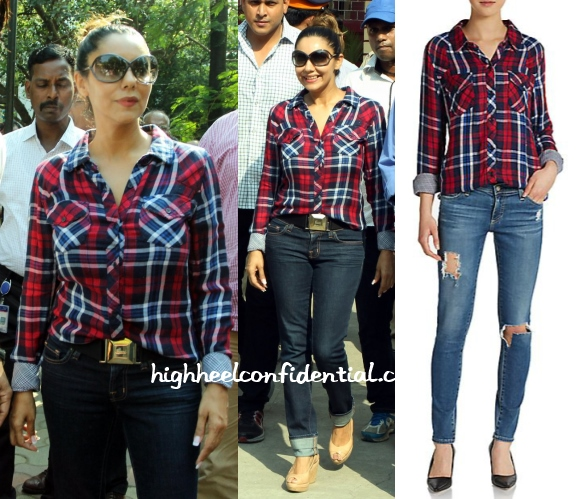 gauri-khan-rails-plaid-shirt-elections