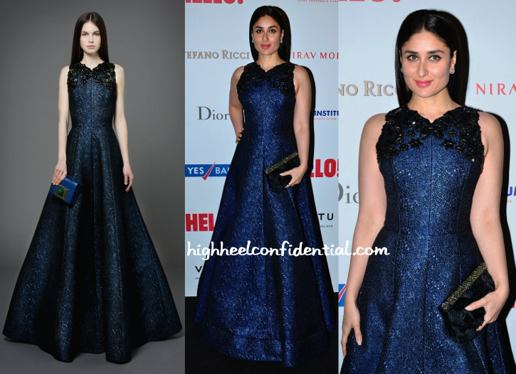 Kareena Kapoor In Andrew GN At Hello! Hall Of Fame 2014 Awards-1