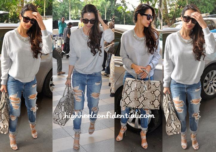 Malaika Arora Khan Photographed In Pinko And Gucci At The Mumbai Airport-2