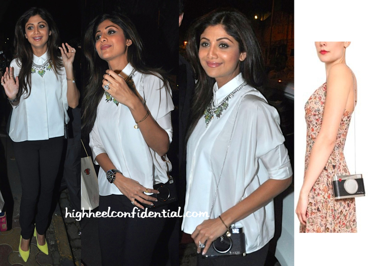 Shilpa Shetty Photographed Outside Nido-2