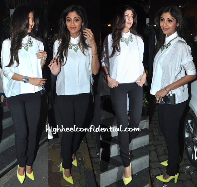 Shilpa Shetty Photographed Outside Nido