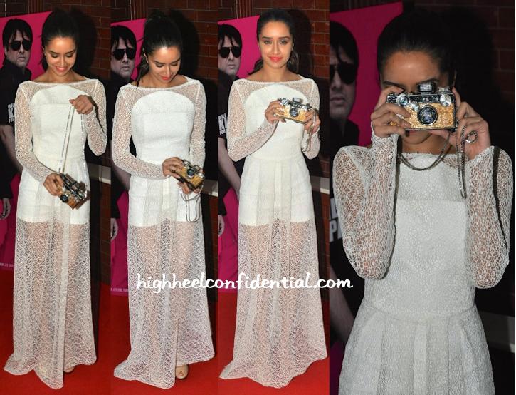 Shraddha Kapoor At Kill Dil Premiere-osman-judith leiber