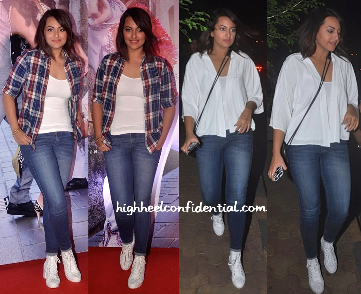 Sonakshi Sinha At 'Action Jackson' Song Launch, At Olive And At 'Gone Girl' Screening-1