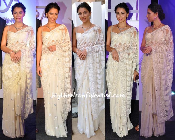 Amrita Puri In Akanksha Gajaria At Platinum Guild India's 'Evara' Collection Launch-1