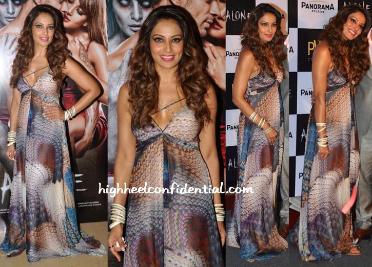 Bipasha Basu In Turquoise & Gold At 'Alone' Trailer Launch-1