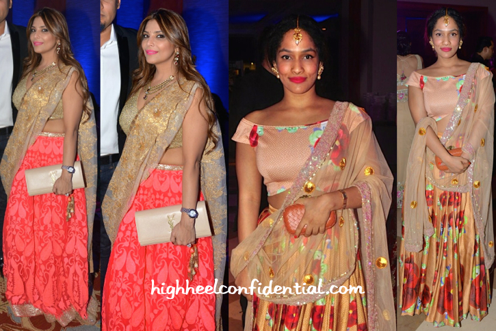 Falguni Peacock And Masaba Gupta At Shirin Morani-Uday Singh Sangeet Ceremony