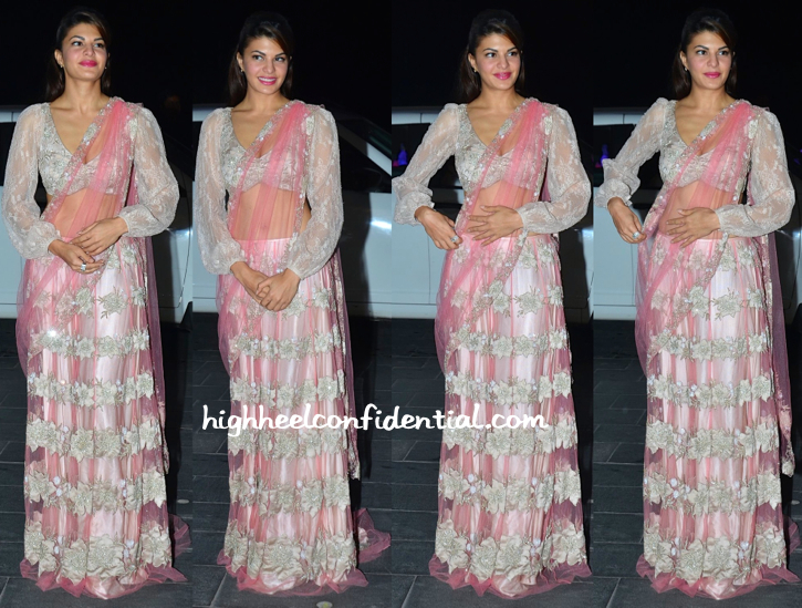 Jacqueline Fernandez At Shirin Morani-Uday Singh Wedding Reception-1