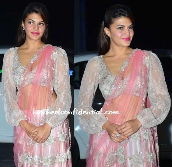 Jacqueline Fernandez At Shirin Morani-Uday Singh Wedding Reception-2