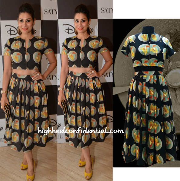 Shaheen Abbas In Masaba At The Disney For Satya Paul Collection Launch