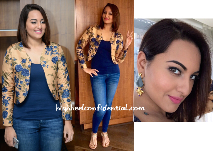 Sonakshi Sinha In Bhumika Sharma And Sapphire At 'Lingaa' Promotions-1